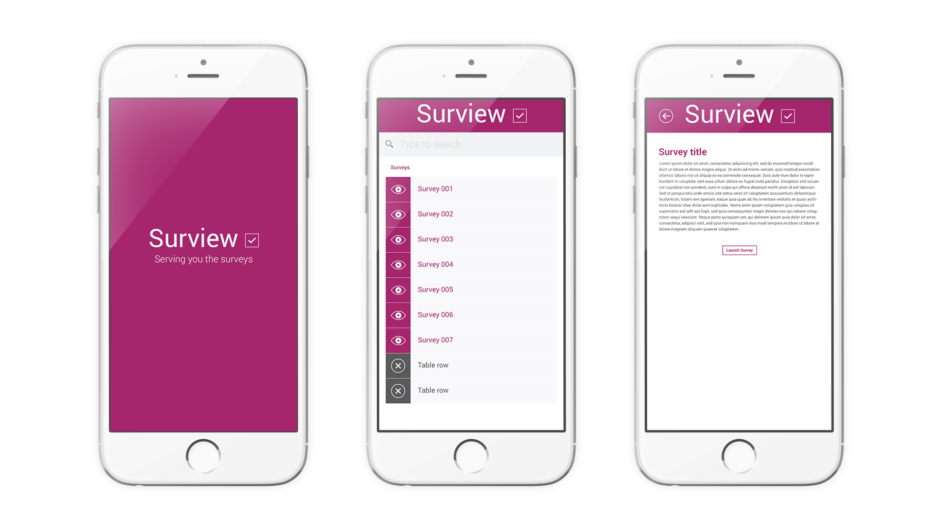 IBM survey app preview
