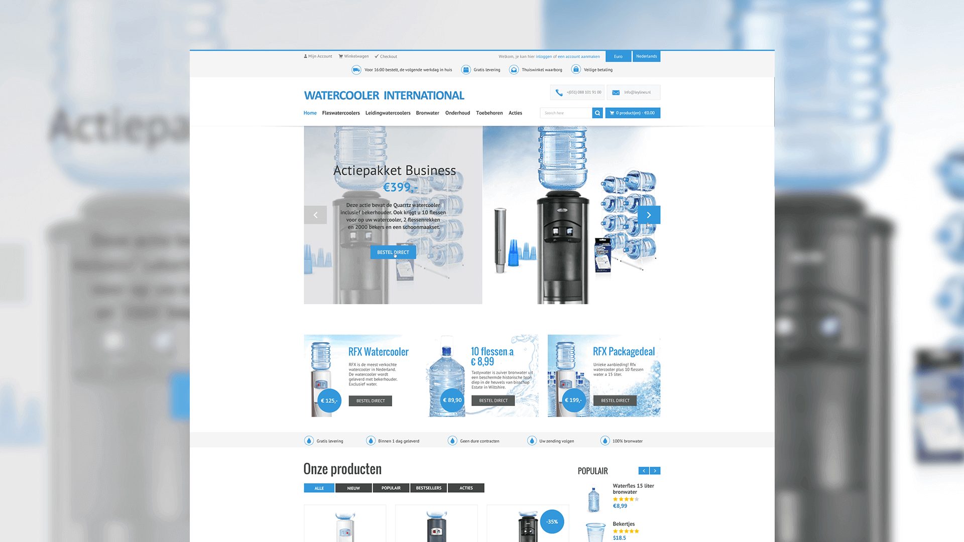 Watercooler International webshop portfolio item